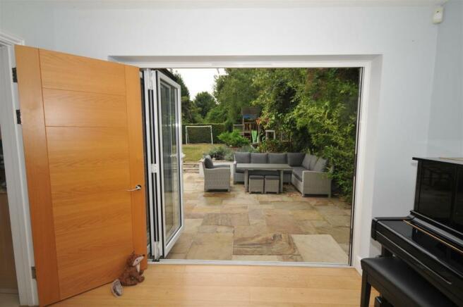 Living room through to garden