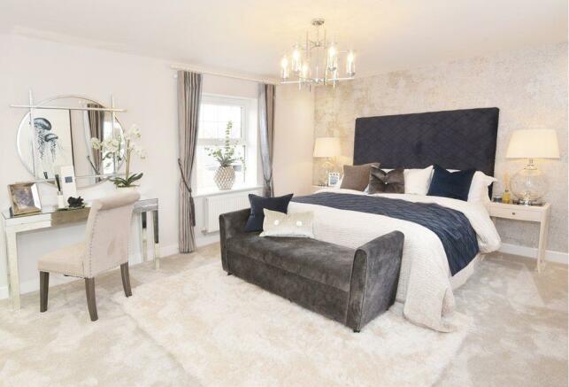 Drakelow Park Layton Show Home Master Bedroom