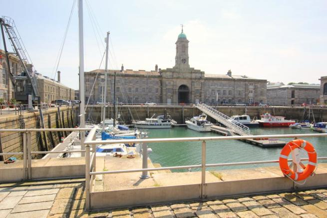 Outside quay and clock