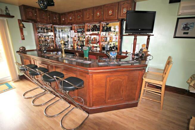Entertainment room bar.
