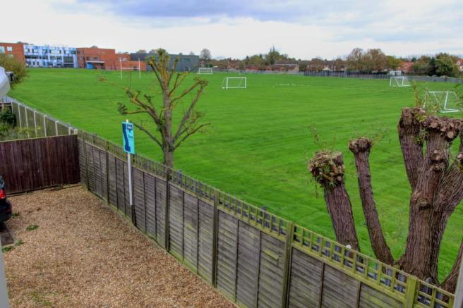 View over playing fields