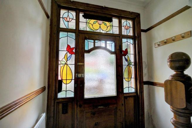 Stunning stain glass entry