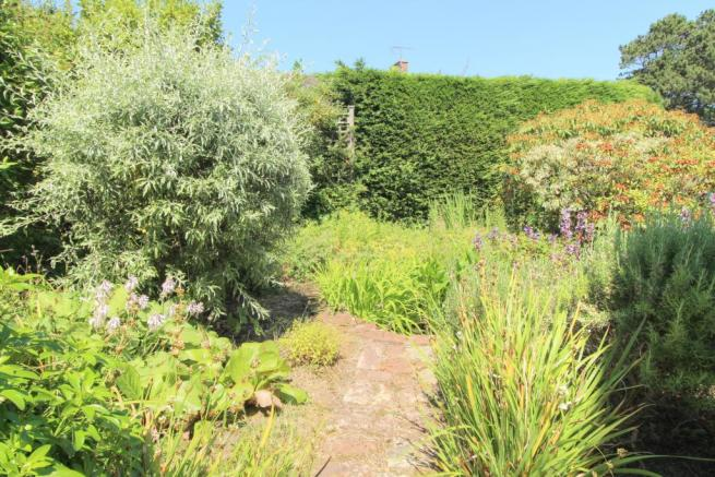 Moorland - front garden and pond