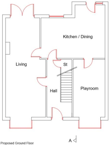 No 7 - Downstairs Floor Plan (NEW)
