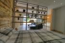 Studio bedroom area