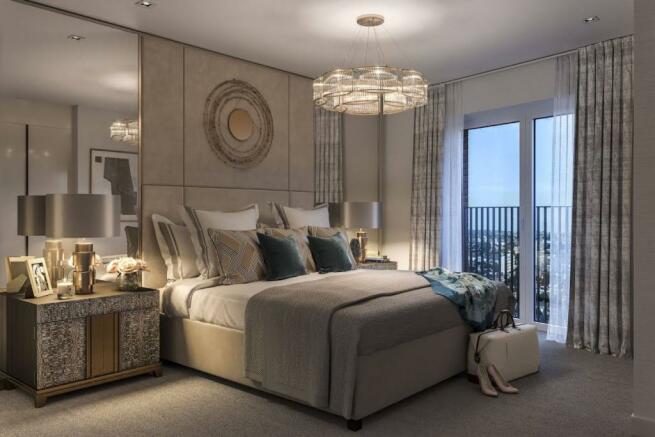 London Keybridge Lofts Master Bedroom
