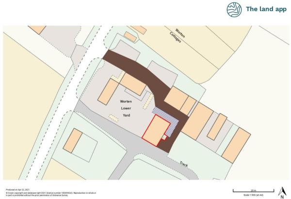 The Old Cart Shed Boundary Plan