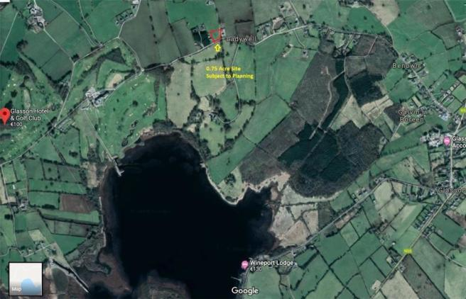 Westmeath Ireland Map.Plot For Sale In Killinure Glasson Athlone Co Westmeath Ireland