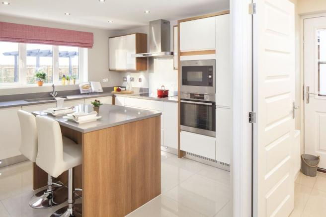 Typical Oakhampton fitted kitchen with family breakfast area