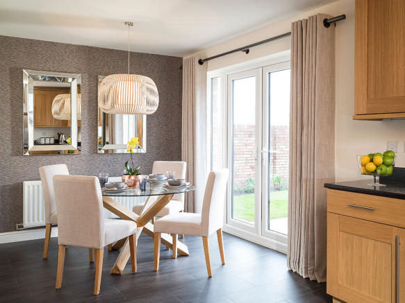 Additional dining area with French patio doors to the outside