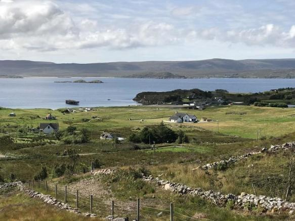 View from top of croft