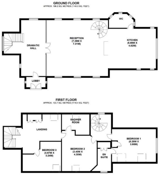 Old Church House Floorplan