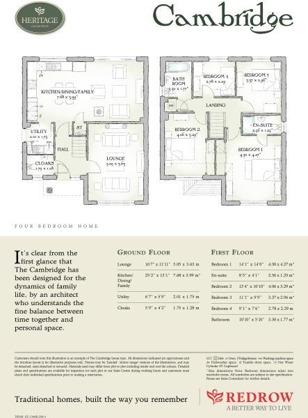 4 bedroom detached house for sale in Access via School Lane – Redrow Cambridge House Floor Plan