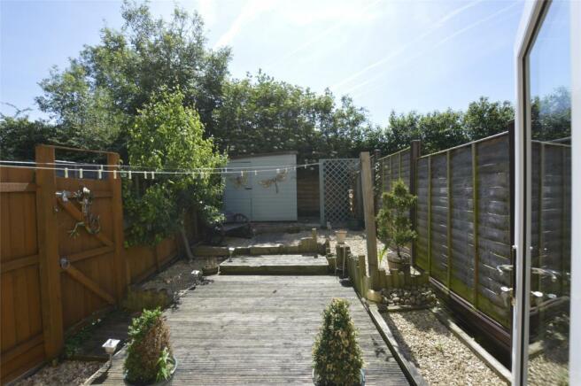 view from rear door to rear garden