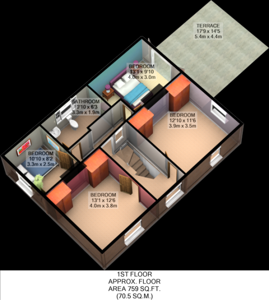 Floorplan 3D (First Floor)