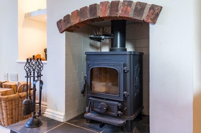 Morso log burner in sitting room
