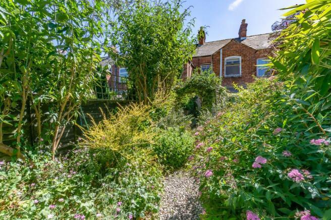 West-facing rear garden