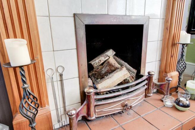 Toasty Open Fireplace