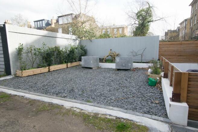 Shared open plan rear garden