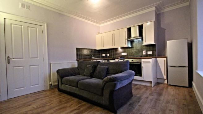 Living Room and Kitchen on open plan