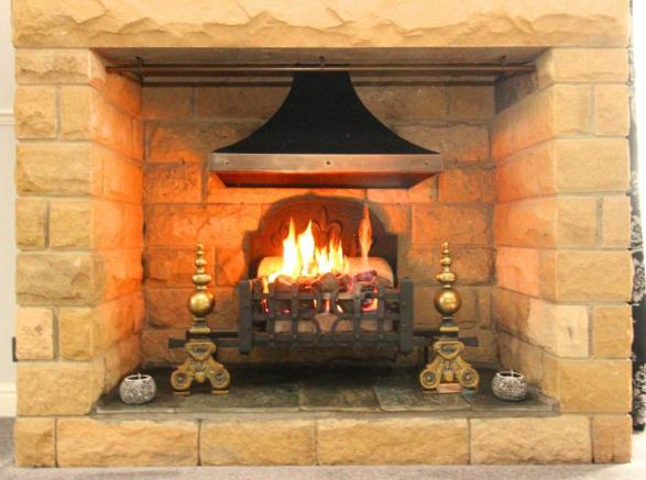 Fire place front room.