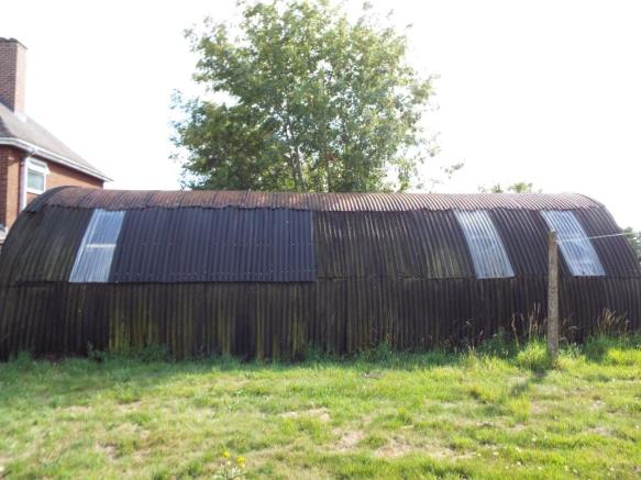Rear storage shed