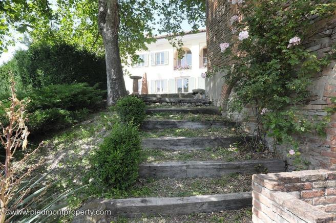 Stairs from garden