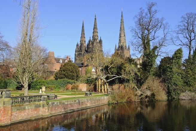Lichfield Cathedral and the Remembrance Gardens