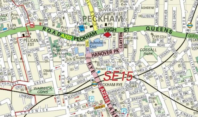 95 Peckham road Map