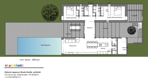 Main house 120 m2