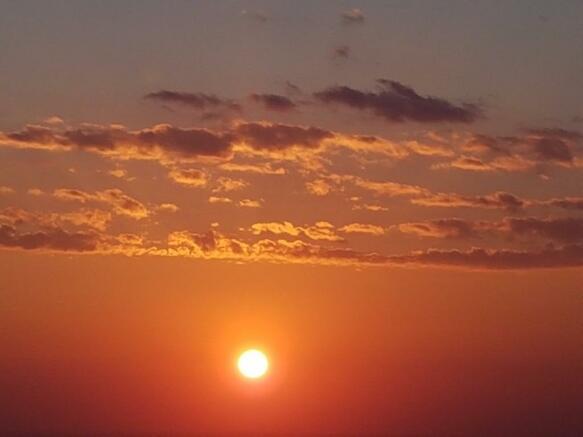 Sunrise from the sea