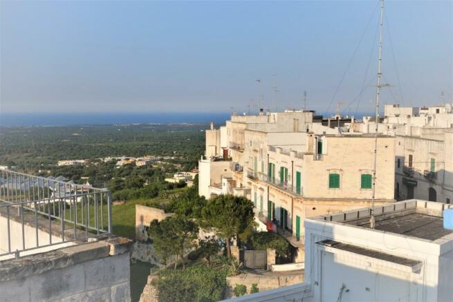 Roof terrace sea vie