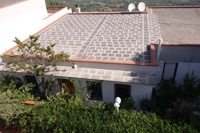 Part of the roof