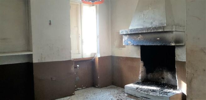 Kitchen fire place