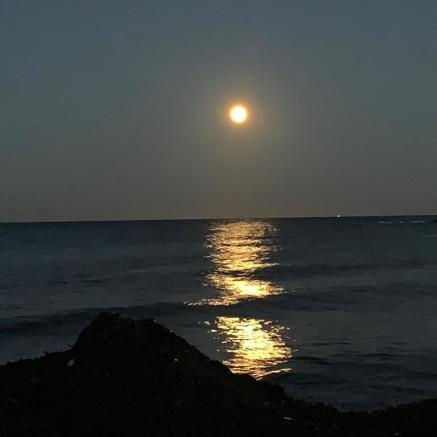 Moon rise from sea