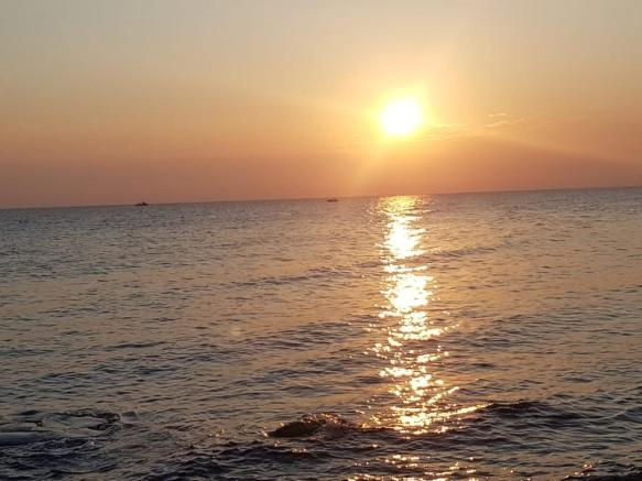Sun rise from sea
