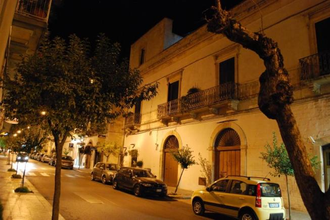The building at nigh