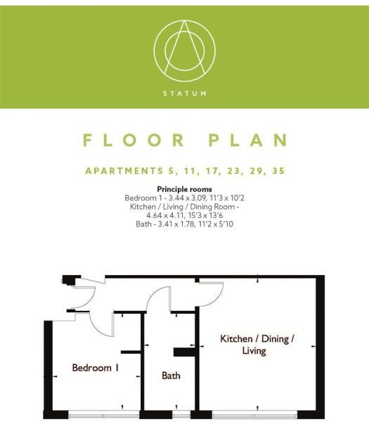 Statum Wootton Mount Floor Plan F5, 11, 17, 23, 29