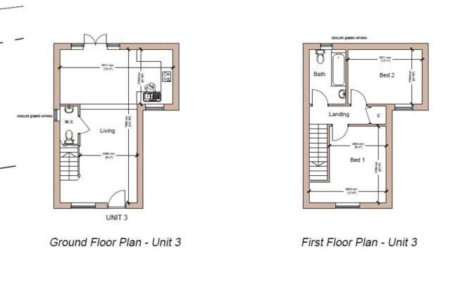 Floor plan Unit 3