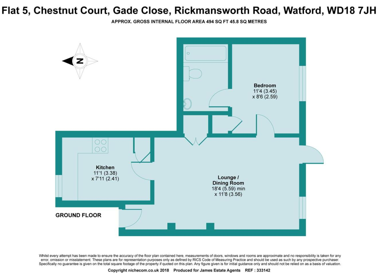 1 bedroom apartment for sale in Chestnut Court, Gade Close, Watford ...