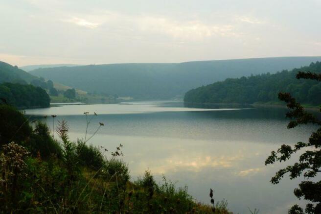 Ladybower water a few miles away