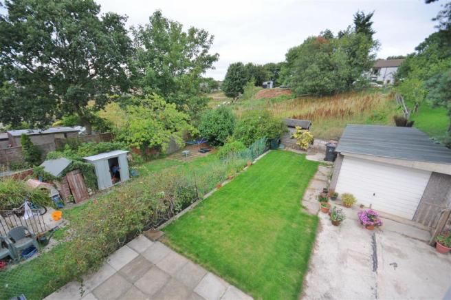 Rear patio, gardens and view