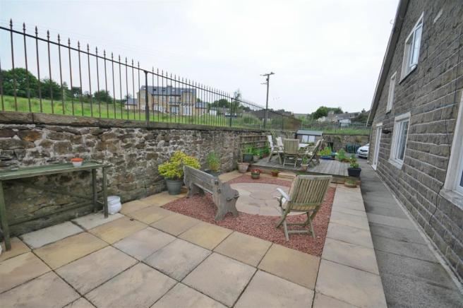 Side terrace and views