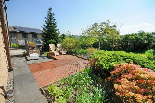 Rear garden and open views
