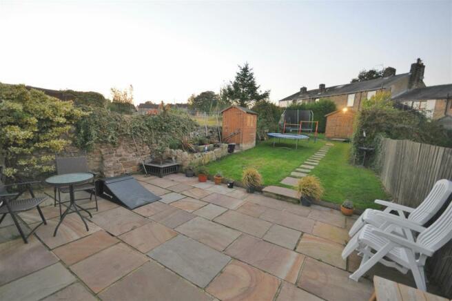 Rear garden and patio seating area