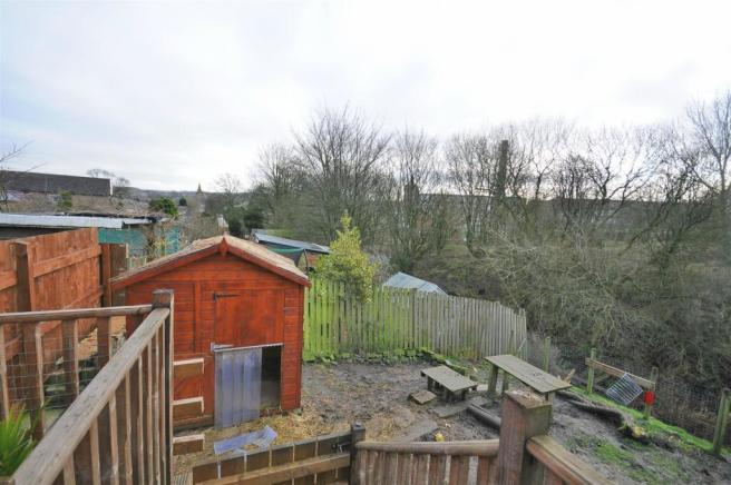 Rear garden and parking
