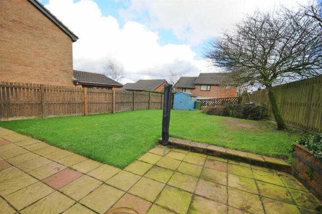 External garden, views, parking and garage
