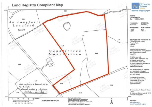 Land For Sale In 20 Acres Agri Land Mountfrisco Killea Templemore