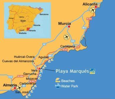 Map Of The Coast Of Spain.Plot For Sale In Vera Playa Almeria Andalusia Spain