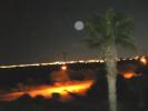 Night view over lake